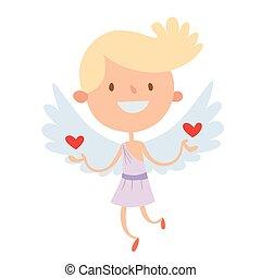 Valentine Day cupid angels cartoon style - Valentine Day...