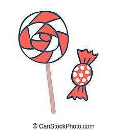 Cake candy pops vector icons illustration Cake candy vector...