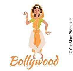 Indian Bollywood couple dancing - Indian Bollywood dancing...