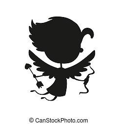 Valentine Day cupid angel cartoon style - Valentine Day...