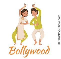 Indian Bollywood couple dancing - Indian Bollywood couple...