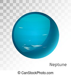 Neptune planet 3d vector illustration