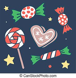Cake candy pops vector icons illustration. Cake candy vector...