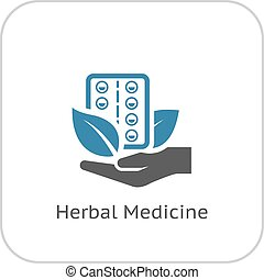 Herbal Medicine Icon. Flat Design. - Herbal Medicine Icon...