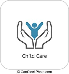 Child Care Icon Flat Design - Child Care and Medical...