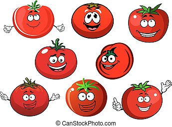 Ripe isolated red tomato vegetables