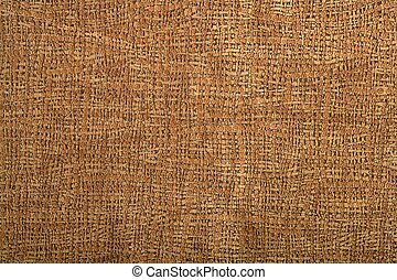 Background pattern of fabric brown leather texture