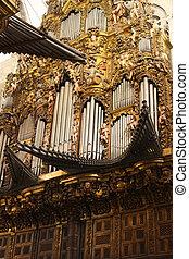 old organ. Cathedral of Santiago de Compostela - The...