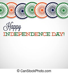 Line India Independence Day card in vector format