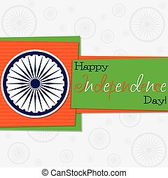 Funky Independence Day card in vector format