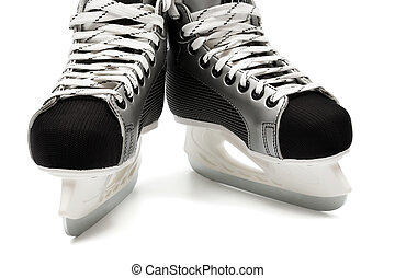modern skates - New and modern skates on a white background