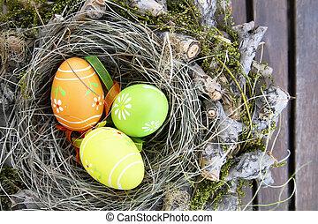 Eier, Ostern,  nest