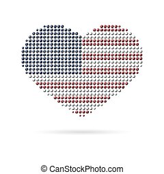 I love USA, Creative heart flag