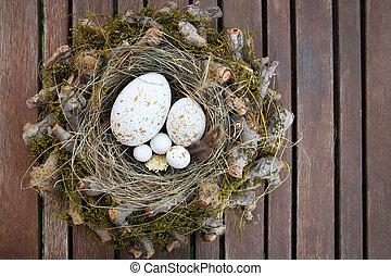 卵, イースター, 巣