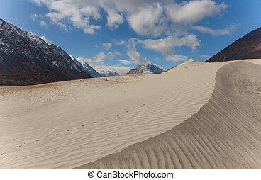 Dunes in the hills