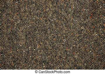 Cheviot tweed fabric background texture on brown color
