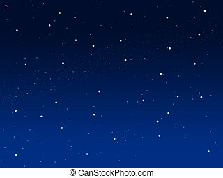 Blue sky illustration background with little stars space...