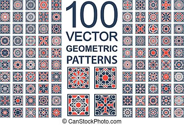 Vector Set of Geometric Patterns - Patterns with geometric...