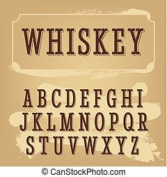 Whiskey font beige