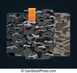 The fabric on military camouflage on background. Military...
