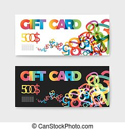 Set of gift (discount) voucher cards