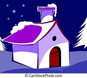 snow house - Illustration of a snow house