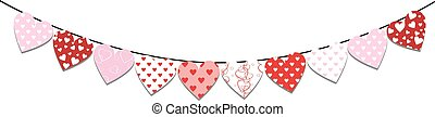 Bunting valentine decoration - Bunting decoration for...