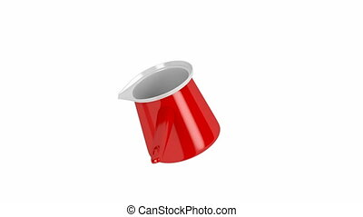 Coffee pot spin on white background