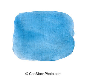 Blue watercolor background isolated.