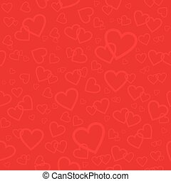 Red seamless pattern with hearts. Background for Valentines day or wedding