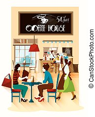 Coffee House Design Concept - Coffee house design concept...