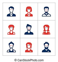 Set color icons of people
