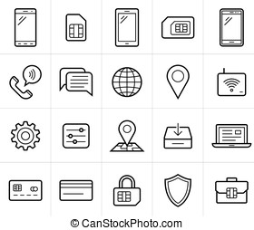 Mobile network operator icons - Mobile network operator or...