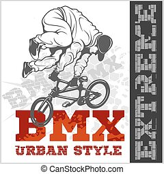 BMX rider - urban team Vector design - BMX rider - urban...