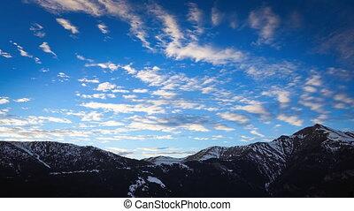 Snowy Mountains Time-Lapse