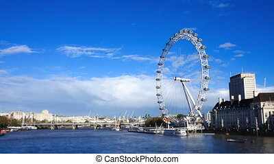London Eye Time-Lapse - A time-lapse video of the London Eye...