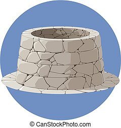 Illustration of a stone well