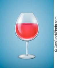 Glass of wine - Wineglass with red wine Vector illustration