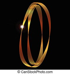 The Number Zero - The number zero depicted in fine gold...