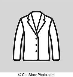Business jacket icon - Vector illustration of business...