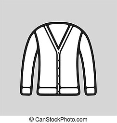 Cardigan icon on background - Vector illustration of...
