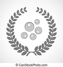 Isolated laurel wreath icon with oocytes - Illustration of...