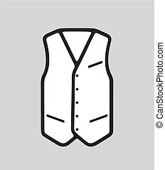 Business waistcoat - Vector illustration of business vest...