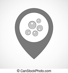 Isolated map marker with oocytes - Illustration of an...