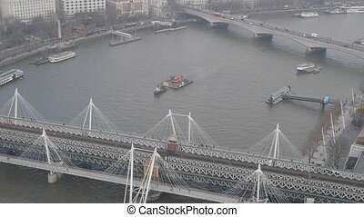 Westminster Bridge london aerial view from london eye