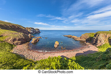 St Abbs Head seascape, Scotland. UK