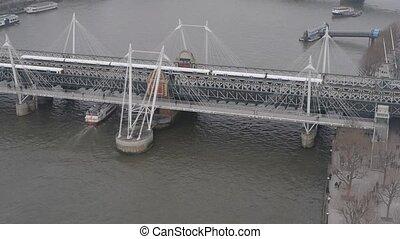 Westminster Bridge london aerial view