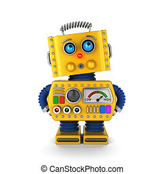 Toy robot looking innocently