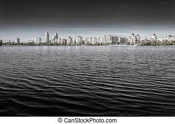 Obolon Skyline Close to the Dnieper River in Kiev - Obolon...