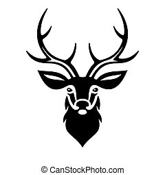 Deer Head. Vector - Deer Head on White Background. Vector...